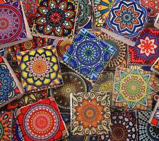 Ceramic Mosaic Tiles - Multi Vintage Colors Medallions Moroccan Tile Mosaic