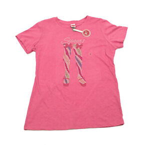 NWT-Sequined-Legs-Pink-Womens-T-Shirt