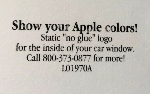 Apple Computer 6 Color Apple Logo Window Cling Sticker