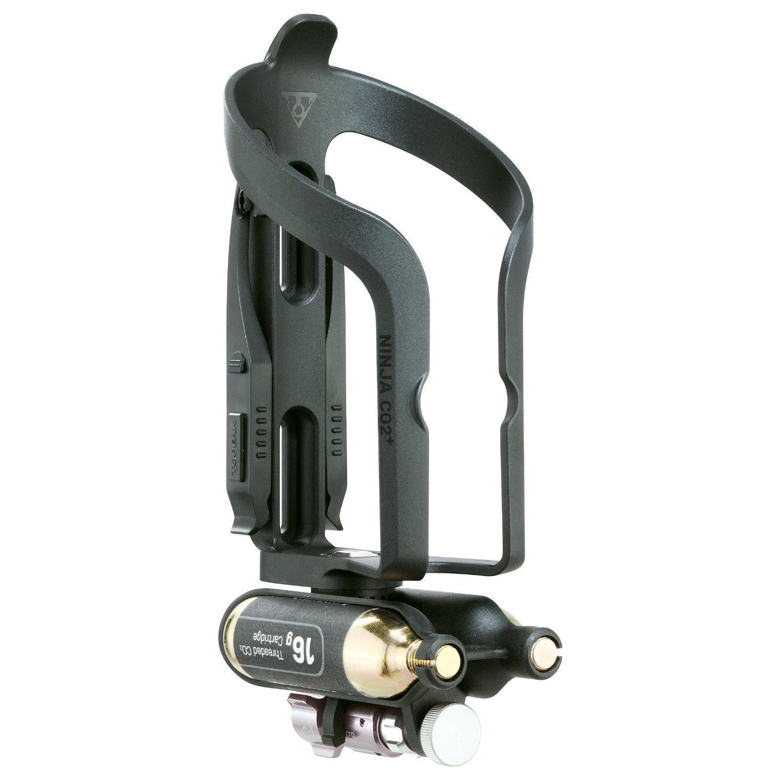 Topeak Ninja CO2 Plus Fahrrad Flaschenhalter Pumpe Micro Air Booster Kartusche