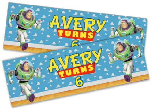 x2 Personalised Birthday Banner Toy Story Children Kid Party Decoration Poster 6