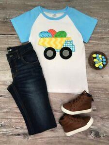 Toddler-Boys-039-Dump-Truck-of-Eggs-Easter-Short-Sleeve-T-Shirt-2T-3T-4T-5-6-7-8