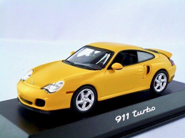 Porsche 911 (996) turbo  2000-2006  speedgelb     Minichamps  1 43  | Quality First