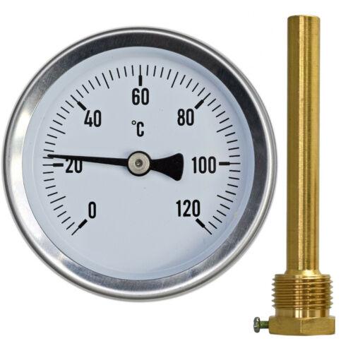"""Thermometer für Räucherofen 5cm 10cm Räucherschrank 1//2/"""" 120°C Kalibrierung"""