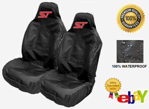ST-Pair-Of-Sports-Bucket-Car-Seat-Covers-Protectors-x2-Recaro-FORD-FOCUS-ST