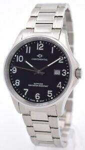 Continental-Swiss-made-Edelstahl-Herrenuhr-mit-Saphirglas-5-ATM-WR-UVP-199-EUR
