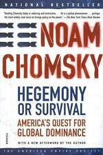 Hegemony or Survival by Noam Chomsky FREE SHIPPING paperback book global America