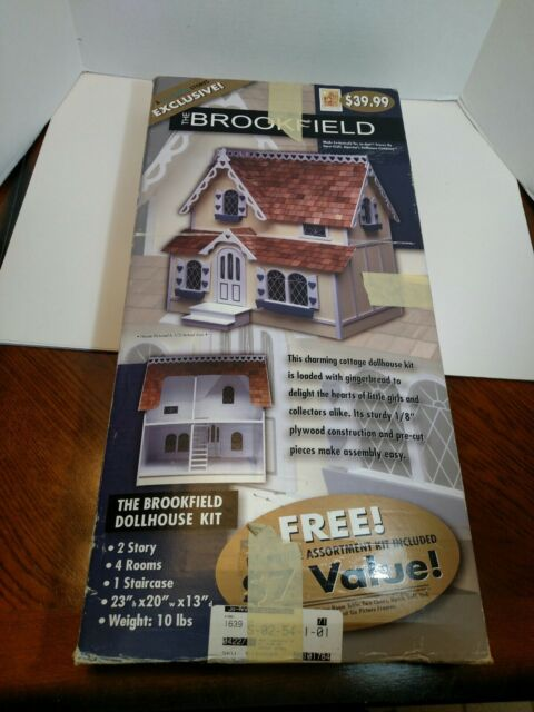 Dura-craft Dollhouse Kit The Brookfield Doll House 2 Story Bf155