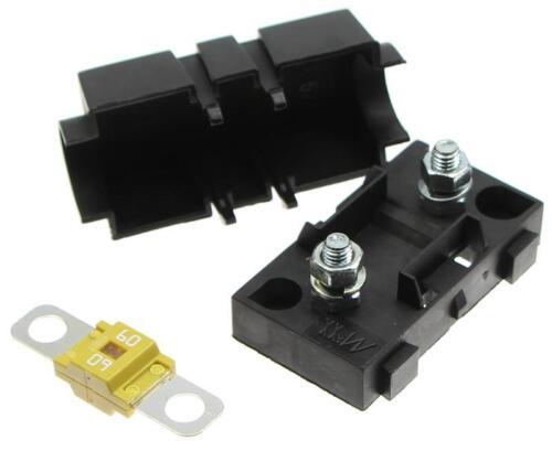 60A SET Sicherungshalter mit Sicherung Schraubsicherung Kompatibel mit MIDI
