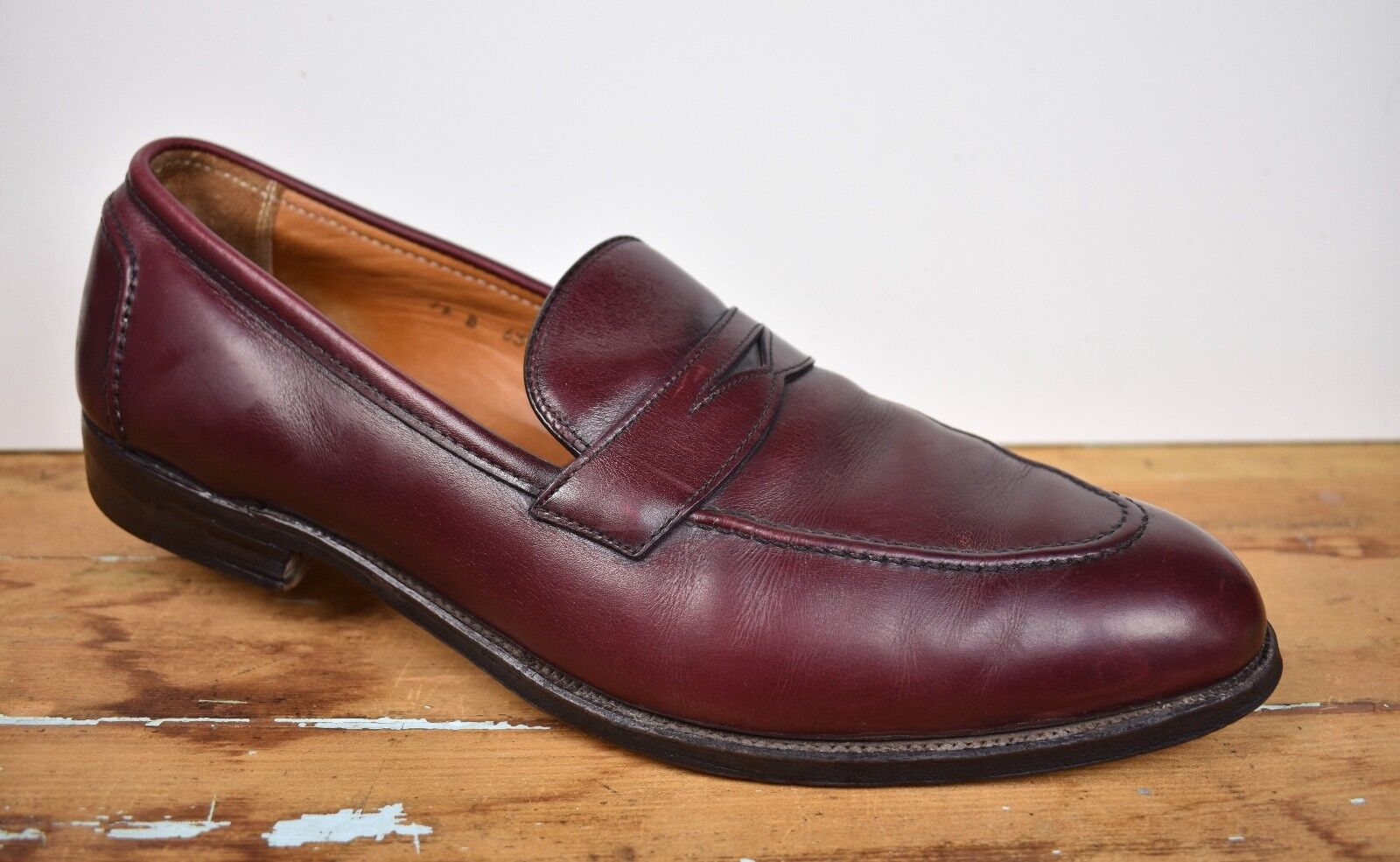 Brooks Brougehers Merlot Moc Toe Penny Mocassins homme Taille  12B