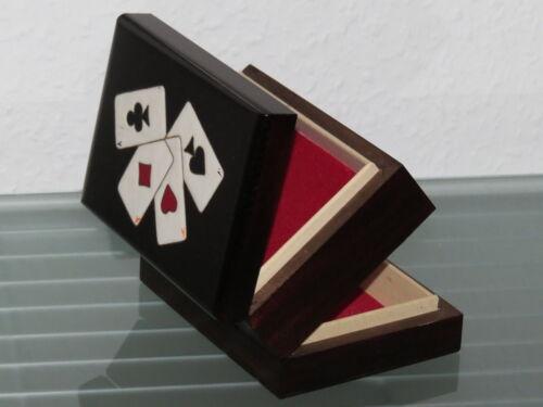 Kartenbox Holzbox Spielkartenbox Holz Box Kästchen Aufbewahrung Poker Skat Rome