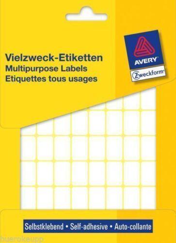 Avery Zweckform 3312 18 x 12 mm Vielzweck-Etiketten Etikett selbstklebend NEU