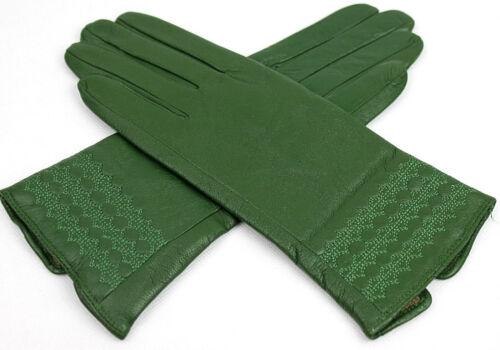 Damen Echt Leder Handschuhe Gefüttert   S 6,5  M 7 L 7,5  XL 8  XXL 8,5  //S184