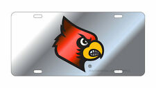 UL UNIVERSITY OF LOUISVILLE Cardinals Mirrored License Plate / Car Tag