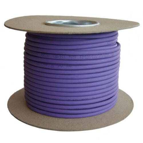 Cat5e Cable sólido LSZH Carrete Violeta 100% de los datos de cobre lote de redes Ethernet