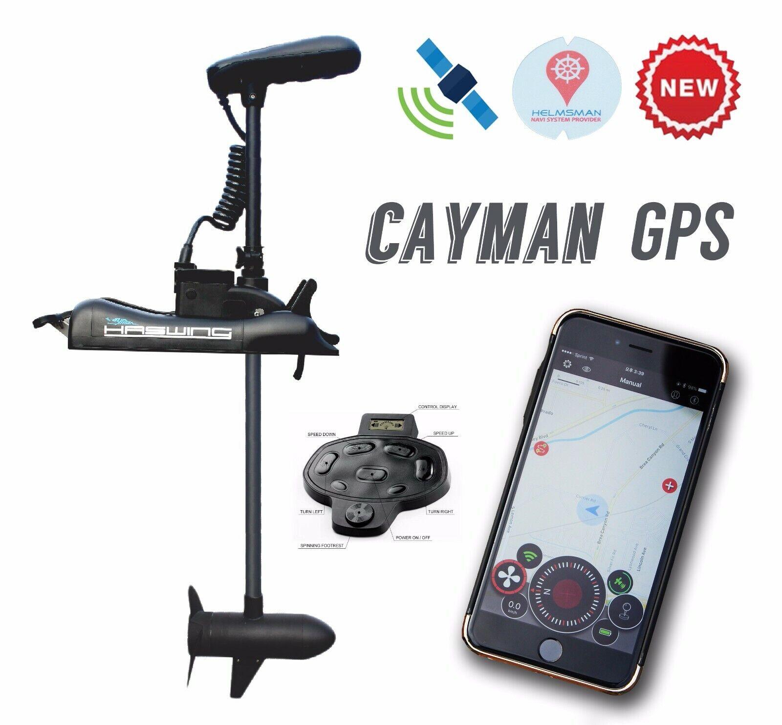 HASWING GPS 12V 55LB 48  Eje Trolling Motor S F agua (control Remoto + pie inalámbrico)