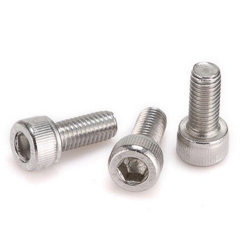 10X~100X M2//M3//M4//M5//M6 Stainless Steel Hex Bolt Socket Cap Screw Head DIN912 PL