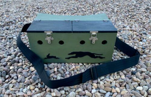Double peint Nœud Arrière FERRET Box 2 Compartiments extrayait Rabbiting chasse