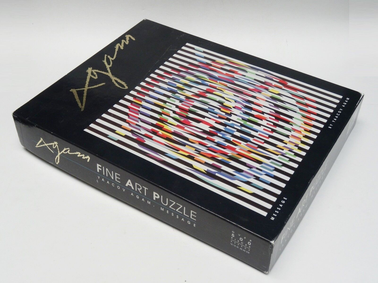 RARE YAACOV AGAM message 500+ PIECES Fine Art Jigsaw Puzzle  Made in Israel