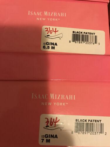 NIB Isaac Mizrahi New York Gina Pump 5.5 6 7 7.5 8 black patent with bow