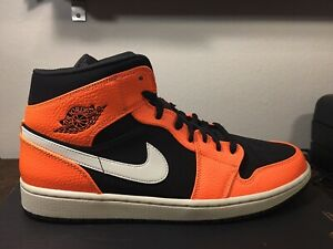 new concept 5c8d3 b5c74 Image is loading NIKE-AIR-JORDAN-1-MID-034-BLACK-CONE-