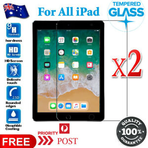 2X Tempered Glass Screen Protector For Apple iPad New 9.7 Air