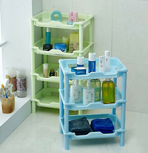 Details About 3 Tier Plastic Portable Bathroom Shelf Storage Rack Toilet Kitchen Shower Holder