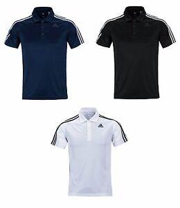 Adidas D2M 3S Polo S S Top BK2602 BP7224 Tennis Golf Climalite ... 976f1e8a4c9aa