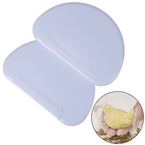 White Pastry Dough Cutter cake Tools Scraper Flexible Safe Plastic Kitchen toolZ