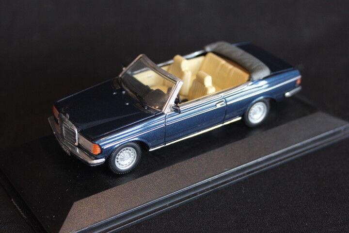 grandi prezzi scontati Minichamps Mercedes-Benz Mercedes-Benz Mercedes-Benz W123 Cabriolet 1 43 blu (very rare he built) (JS)  designer online