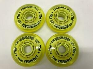 4-Pack-New-Revision-The-Variant-Indoor-Inline-Roller-Hockey-Wheels-74A-Soft-80mm