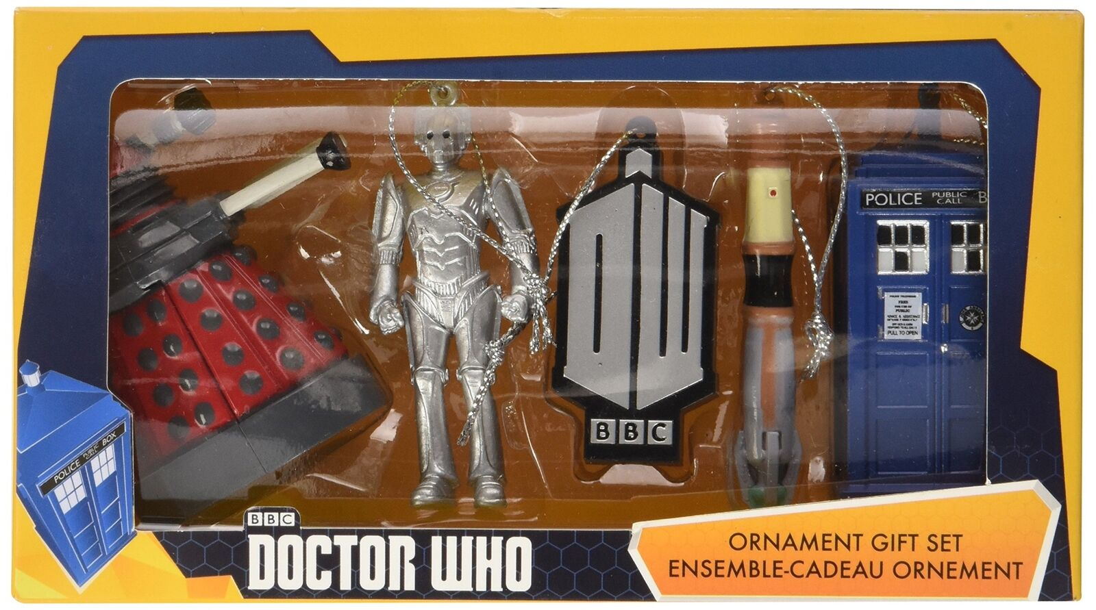 DOCTOR WHO ORNAMENT GIFT SET KURT ADLER SET OF FIVE ORNAMENTS NEW LOWER PRICE!!