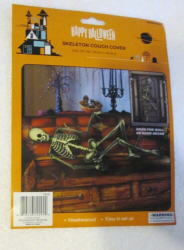New Halloween Skeleton Couch or Door cover plastic 30 x 60 living room decor