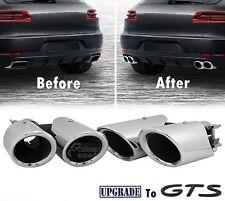 Exhaust Pipe Muffler Tips for Porsche Macan 2.0T Upgrade ,2014-17 (Gloss Chrome)
