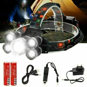 Waterproof-90000LM-3X-T6-LED-Headlamp-Headlight-Flashlight-Head-Torch-18650-Camp