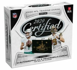 2020-Panini-Certified-Football-Factory-Sealed-Hobby-Box