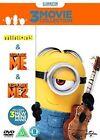 Minions Collection Despicable Me 1 2 BOXSET Bundle 2015 DVD UK PAL R2