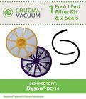 Dyson DC14 Pre & Post Filter & 2 Filter Seals, Part # 905401-01 & 901420-02