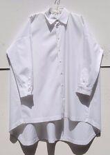 "NEW Eskandar Cotton Classic Collar High Low Hem Long 40"" Tunic Top (1) $895"