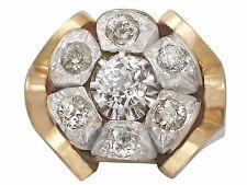 Diamond Cluster 1.53ct, 18ct Oro Giallo Abito Anello-antico Francese intorno al 1920