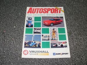 Image Is Loading AUTOSPORT 1990 VAUXHALL MOTOR SPORT SPECIAL REPORT