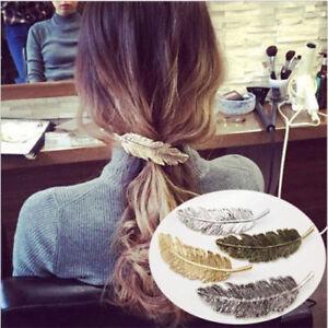 Women-Leaf-Feather-Hair-Clip-Hairpin-Barrette-Bobby-Pin-Fashion-Hair-Accessories