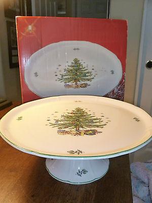 Vintage Nikko Christmas China - Happy Holidays - Cake Pedestal - Box