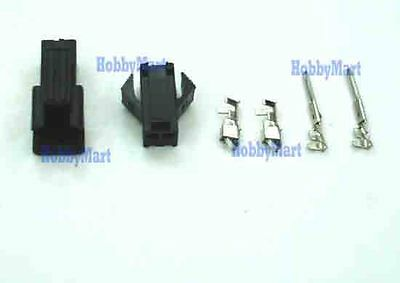 2 Paar JST SM-baugleiche 2-Pin Crimp-Stecker//Kupplung-Set inkl Pins