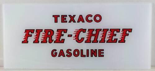 TEXACO FIRE CHIEF GAS PUMP AD GLASS TOKHEIM WAYNE