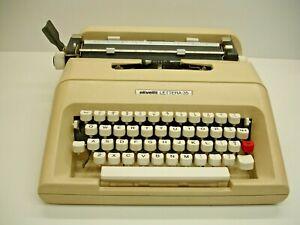 Vintage Olivetti Manual Typewriter, Lettera 35 with Plastic Case, Works