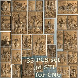 35 pcs set 3d stl models  for CNC Router Artcam Aspire