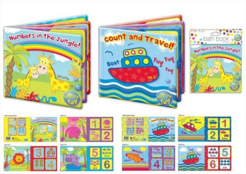 Buy 3 Get 1 Free Plastic Coated Baby Bath Book Kids Children 2 Designs Toy