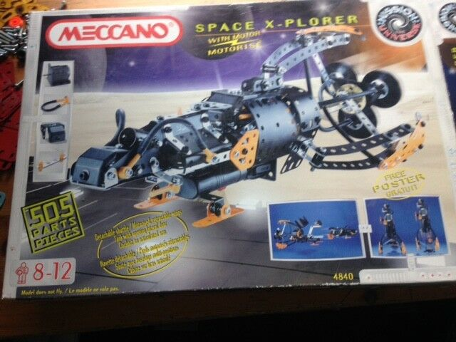 Meccano, SpaceXplorer set, never built, parts still sealed.