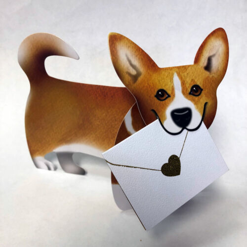 """SD-125 Dog /""""Carriad/"""" 3D Special Delivery Greeting Card"""